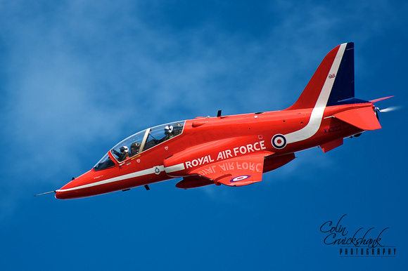 Red Arrows Jersey Air Display by Colin Cruickshank