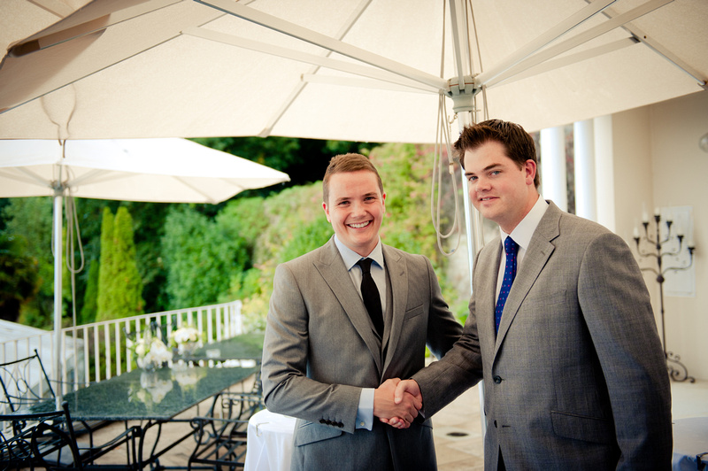 best man and groom Cardington House Colin Cruickshank wedding photography