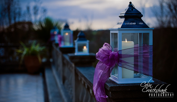 Lanterns at Chateau Vermont Jersey wedding Colin Cruickshank